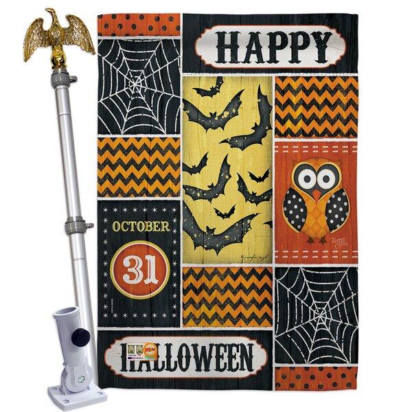 Breeze Decor Halloween Happy 2 Sided Polyester 40 X 28 In Flag Set Wayfair
