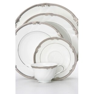Ivy 5 Piece Bone China Place Setting, Service for 1 (Set of 4)