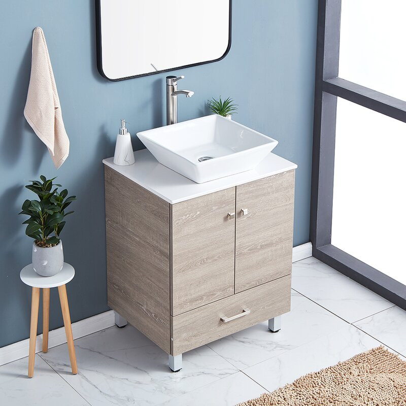 Ebern Designs Wadermere 24 Single Bathroom Vanity Set Wayfair