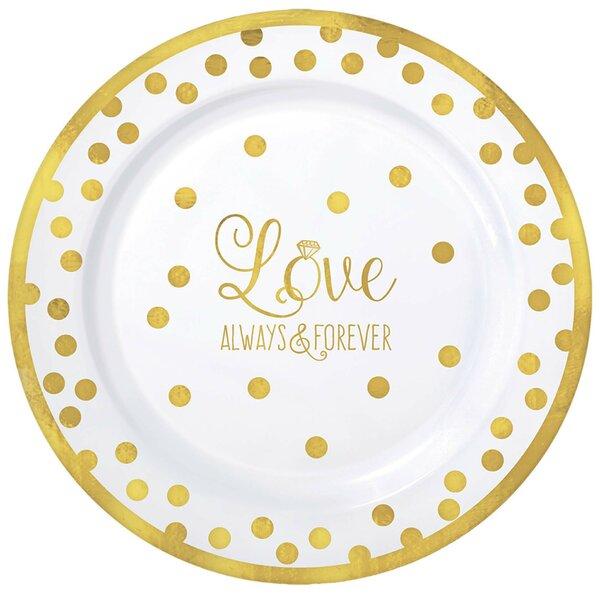 sc 1 st  Wayfair & Amscan Wedding Premium Plastic Dinner Plate | Wayfair