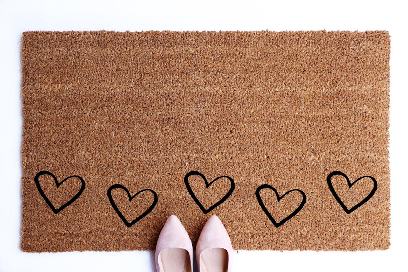 "Valentine Love Heart Wooden Home Decor 24x16/"" Non-Slip Bath Mat Door Rug Carpet"