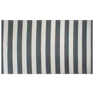 Joan Striped Gray/White Indoor/Outdoor Area Rug