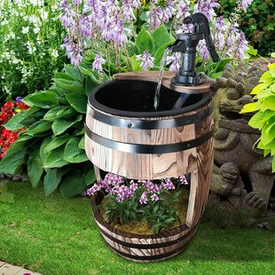 Ballina Wood Water Fountain By Sol 72 Outdoor