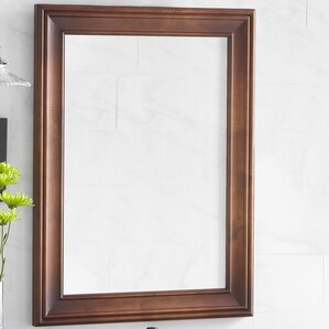 Traditional 24 X 32 Solid Wood Framed Bathroom Mirror In Colonial Cherry