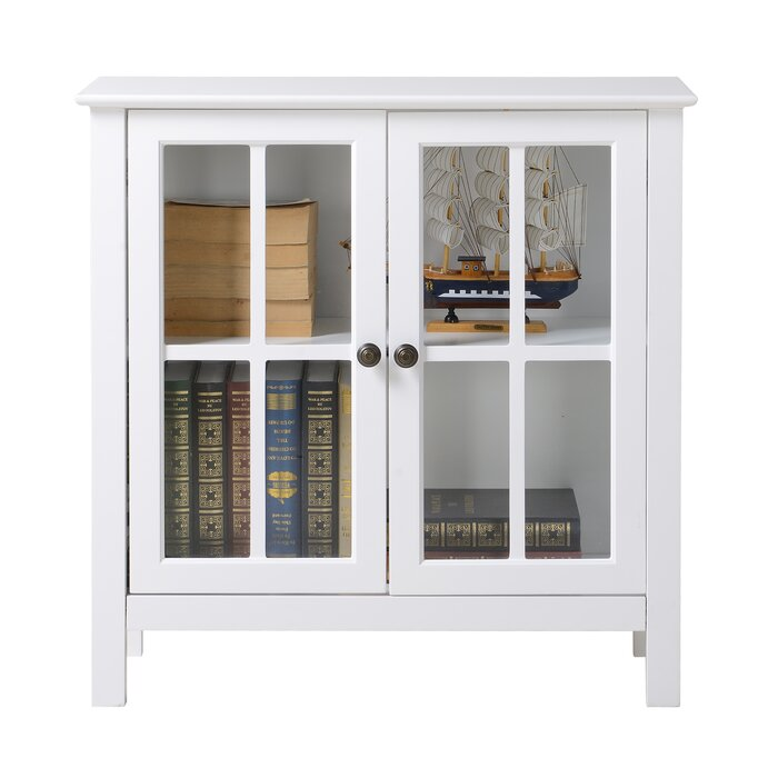 Os Home Office Furniture Glass 2 Door Accent Cabinet Reviews