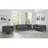 Walbourne 3 Piece Leather Living Room Set by Orren Ellis