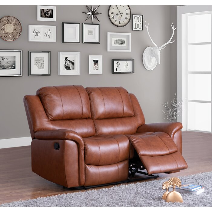 Miraculous Keziah Genuine Leather Reclining Loveseat Gmtry Best Dining Table And Chair Ideas Images Gmtryco