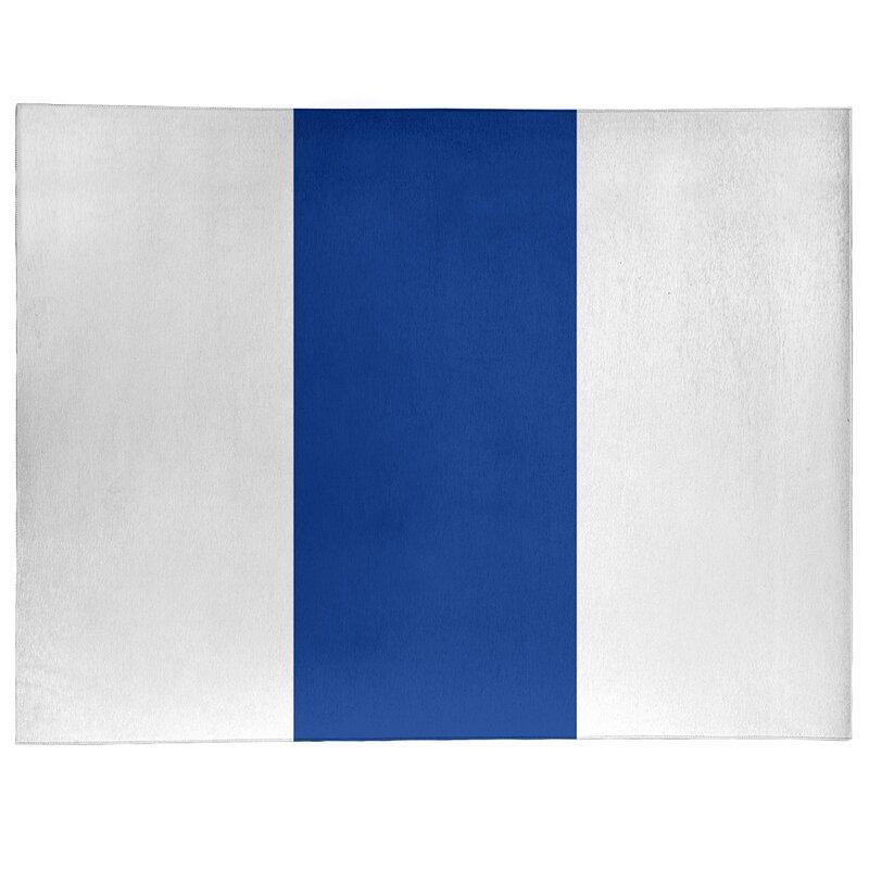 East Urban Home Nhs National Hockey Stripes Royal Blue Area Rug Wayfair