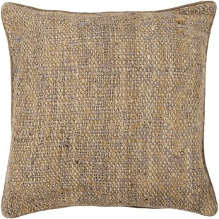 Curpin Textured Contemporary Silk Throw Pillow