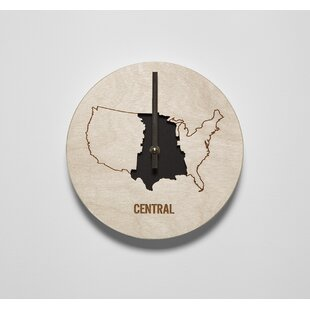 8 Central Time Zone Clock by Reed Wilson Design
