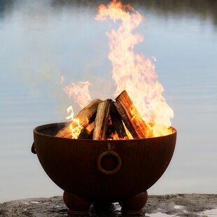 Fire Pit Art Nepal Steel Wood Burning Fire Pit