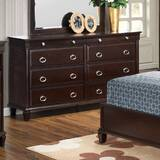 Astoria Grand Ambrosina 8 Drawer Double Dresser with Mirror