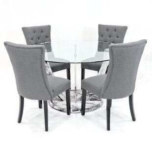 Kipp Dining Set With 4 Chairs By Metro Lane