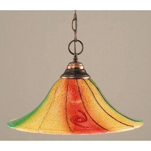 Chesley 1-Light Bowl Pendant by Red Barrel Studio