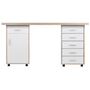 Midway 3 Piece Desk Office Suite by Ebern Designs Fresh