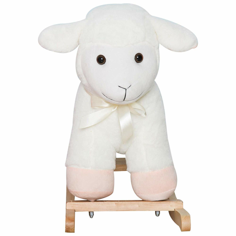 Admirable Kids Playtime Plush Sheep Lamb Toy Ride Rocking Horse Inzonedesignstudio Interior Chair Design Inzonedesignstudiocom