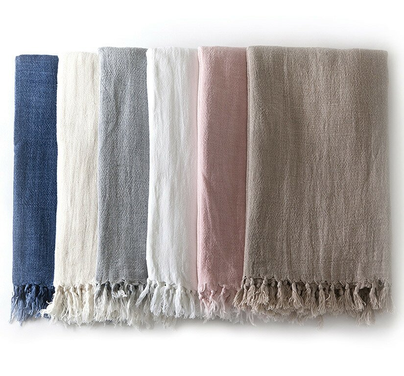 Montauk Linen Throw