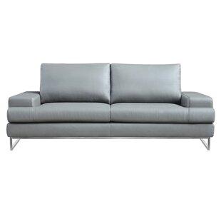 Wade Logan Angeline Leather Sofa