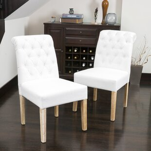 Compare Jazlynn Upholstered Dining Chair (Set of 2) by Ophelia & Co. Reviews (2019) & Buyer's Guide