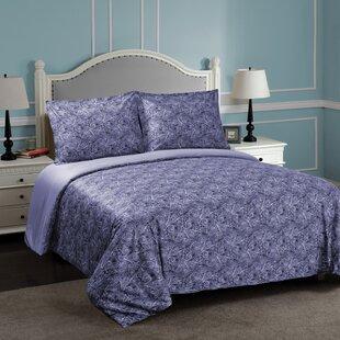 Burkes 100% Egyptian-Quality Cotton Reversible Duvet Cover Set