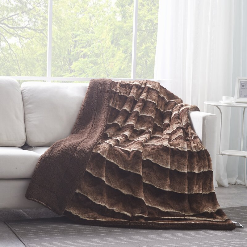 Tache Home Fashion Faux Fur Sherpa Throw Blanket Reviews Wayfair