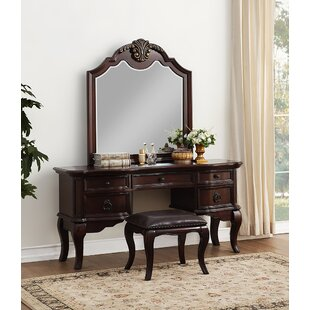 Astoria Grand Shea Vanity Set with Mirror