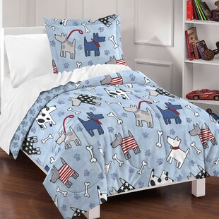 Lynnette 100% Cotton 2 Piece Reversible Comforter Set