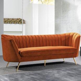 Orange Velvet Sofas You Ll Love Wayfair