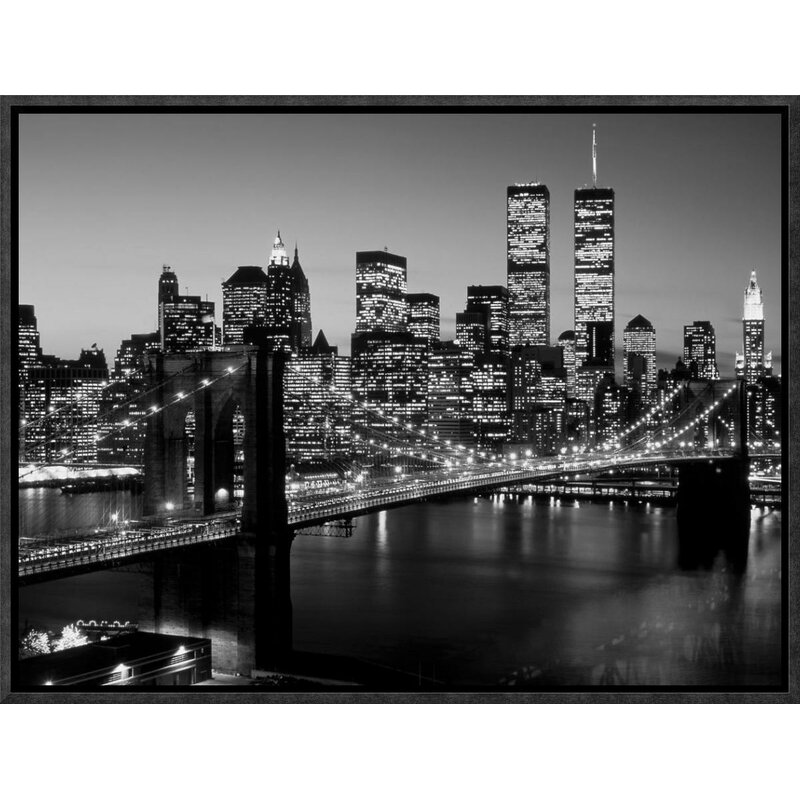 "LARGE CITY CANVAS PICTURE BROOKLYN BRIDGE NEW YORK 42/"""