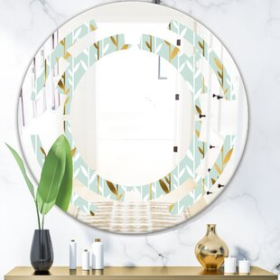 Space Foliage I Cottage Americana Frameless Wall Mirror by East Urban Home