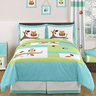 Sweet Jojo Designs Hooty 3 Piece Comforter Set