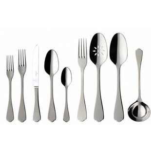 Medina 64 Piece Stainless Steel Flatware Set, Service for 12