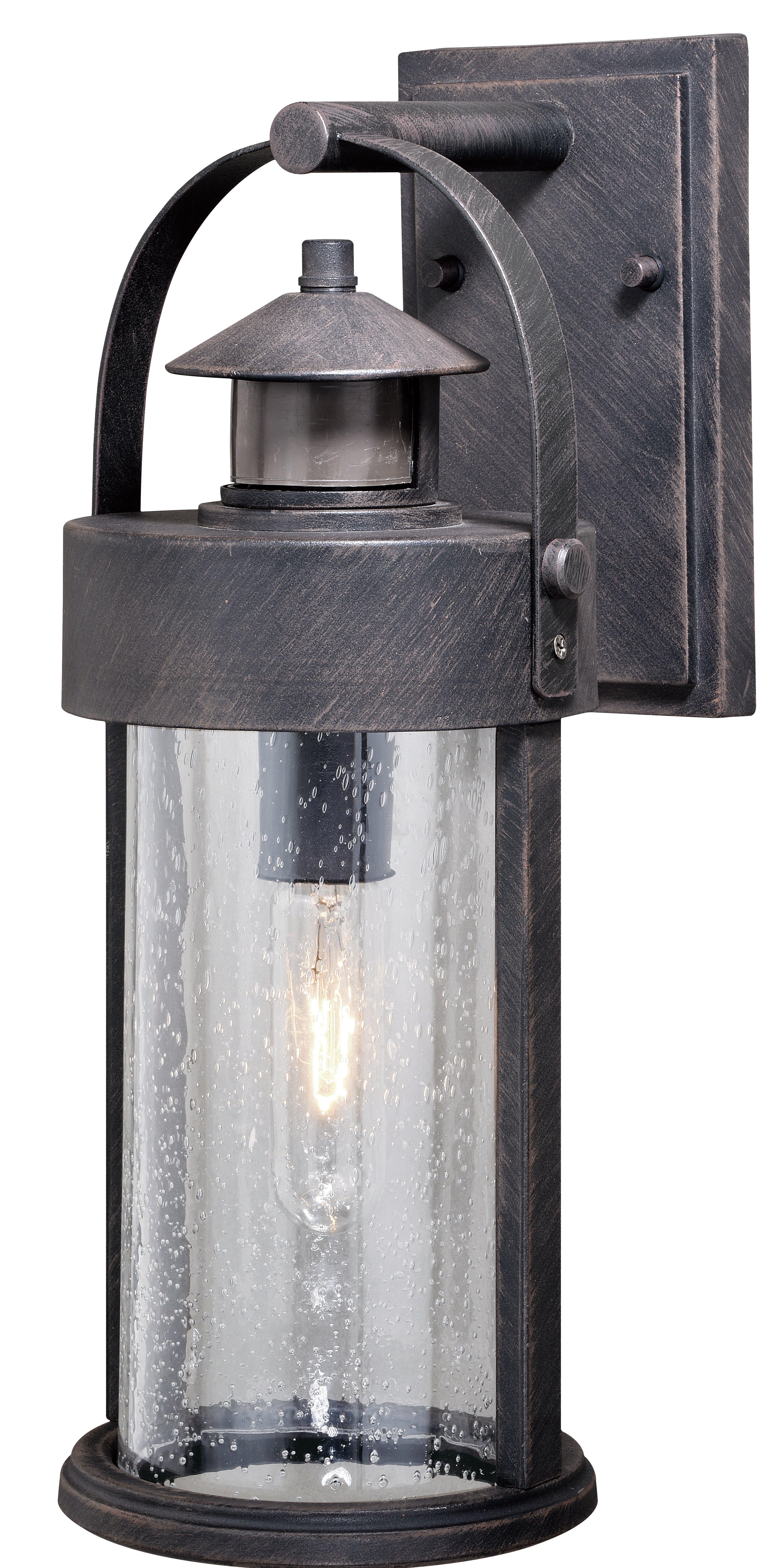 Gracie Oaks Ostman Outdoor Wall Lantern With Motion Sensor Reviews Wayfair Ca
