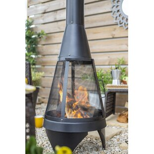 Steel Wood Burning Chiminea By Belfry Heating