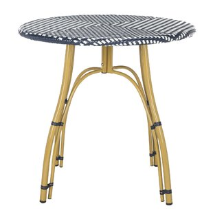Lucia Wicker/Rattan  Bistro Table By Beachcrest Home