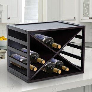 16 Bottle Tabletop Wine Rack By Symple Stuff