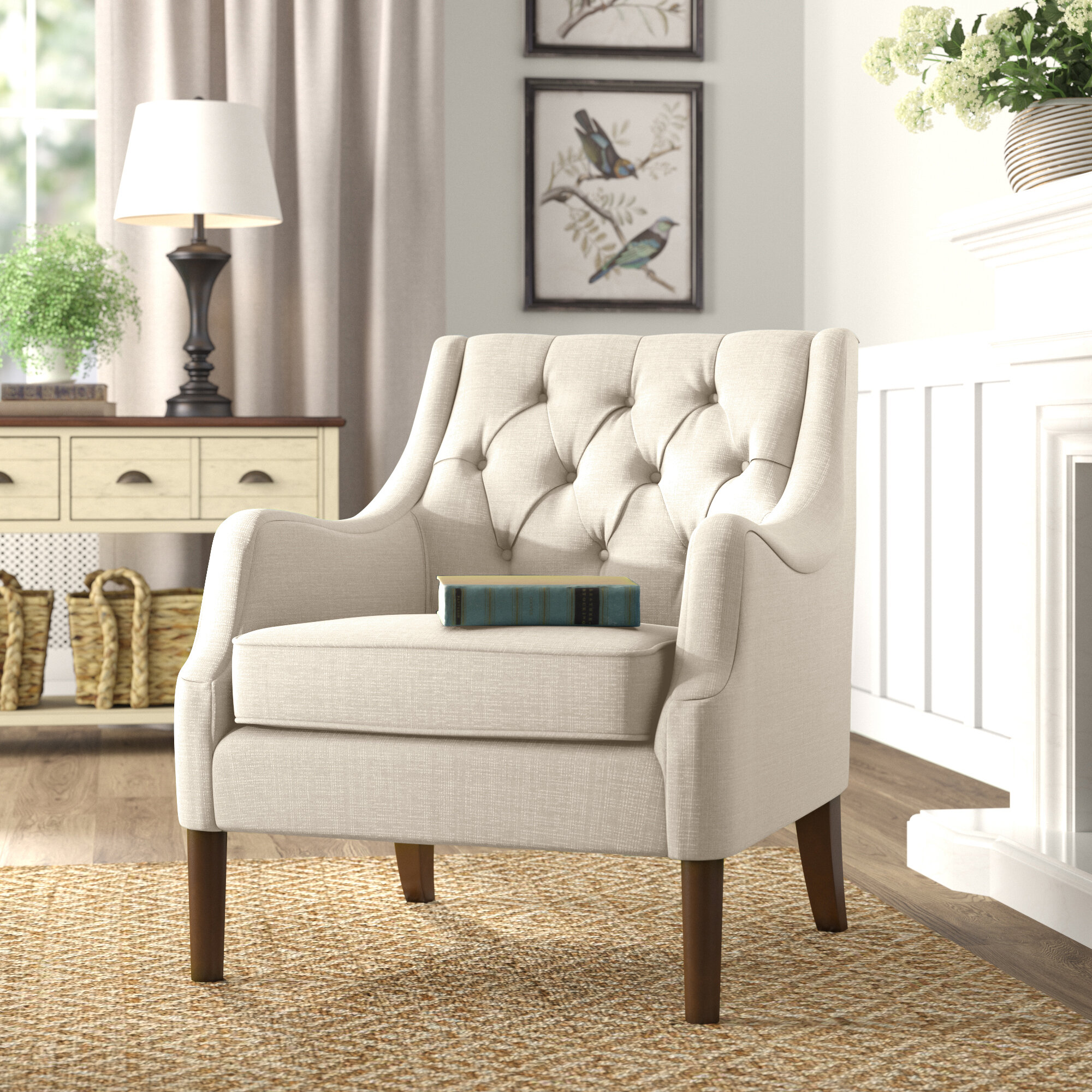 Cottage Country Accent Chairs Farmhouse Armchairs Free Shipping Over 35 Wayfair