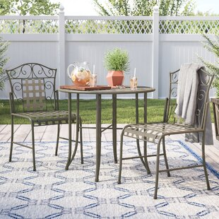Saundra 3 Piece Bistro Set