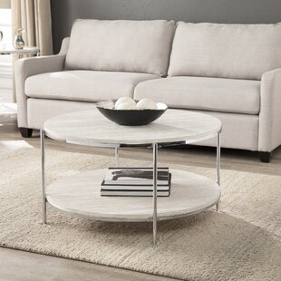 Mercer41 Stamper Faux Stone Coffee Table