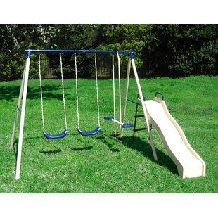 Flexible Flyer Swing N Glide Gym Swing Set