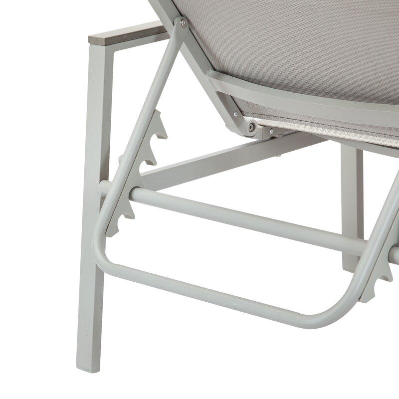 Miraculous Peterkin Sling Patio Reclining Chaise Lounge Evergreenethics Interior Chair Design Evergreenethicsorg