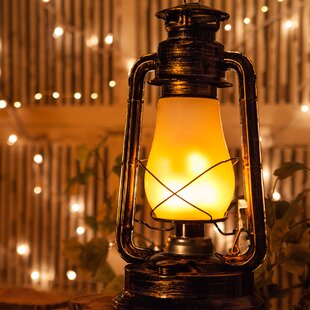 Digital Flame LED Lantern by Wintergreen Lighting