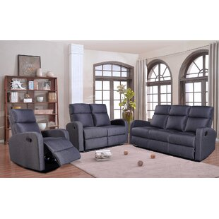 Ameline 3 Piece Reclining Living Room Set by Ebern Designs