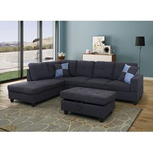 Ebern Designs Spear Sectional with Ottoma..