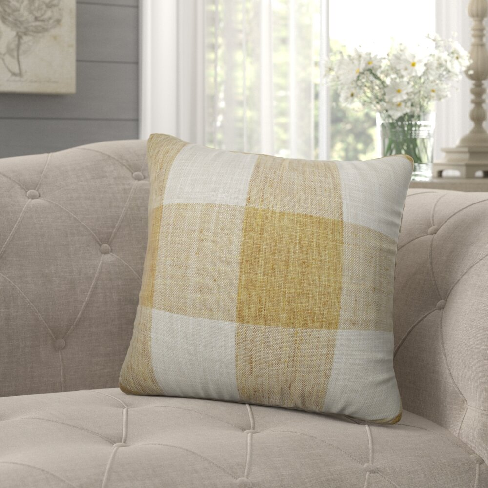 Three Posts Monette Check Throw Pillow Reviews Wayfair