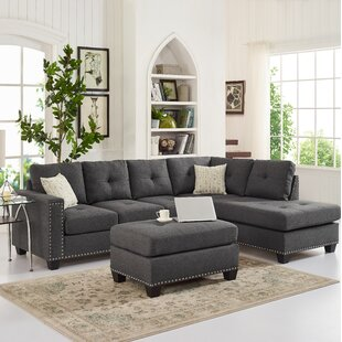 Bonnaford 105 Right Hand Facing Sectional with Ottoman by Ebern Designs