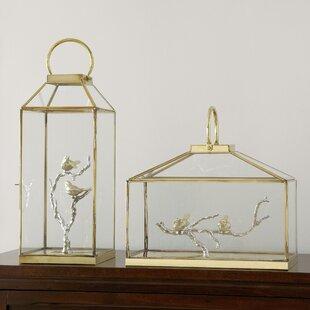 Glass Bird Lantern by Alco..