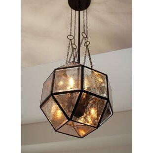 Furrow 4-Light Geometric Chandelier