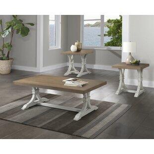 Gracie Oaks Schutz 3 Piece Coffee Table Set