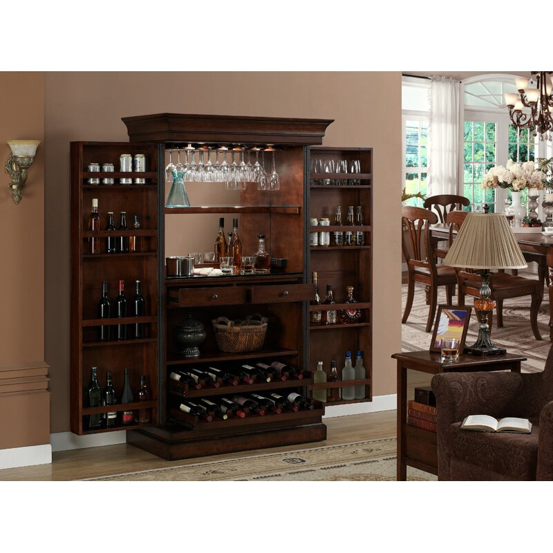 Darby Home Co Raleigh Bar Cabinet With Wine Storage Reviews Wayfair
